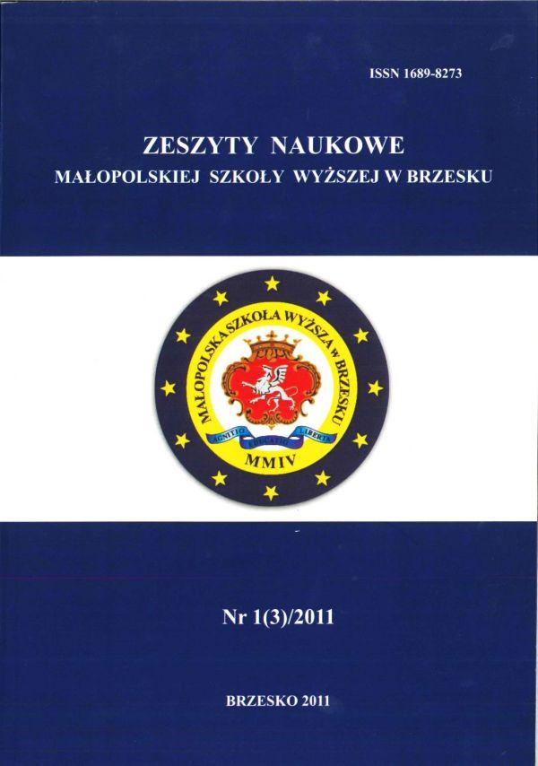 Zeszyt naukowy Nr 1(3)/2011